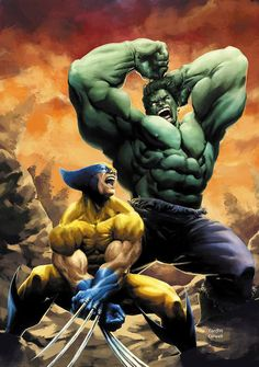 #Hulk #Fan #Art. (Wolverine Vs Hulk 2014Rev) By: Jeremy Colwell. ÅWESOMENESS!!!™ ÅÅÅ+
