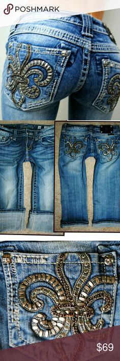 Miss me fleur crop low use denim jeans sz 2 26 See pics for details and measurements Miss Me Jeans Ankle & Cropped