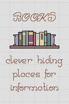 bookcover cross stitch patterns - Google Search
