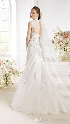 Elegant Sweetheart Neckline A-Line Tulle Wedding Dresses with Lace Applique Cap Sleeves and K-Hole Back and Chapel Train Bridal Gowns 2015
