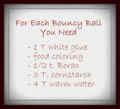 Fun for big kids to make their own bouncy balls!
