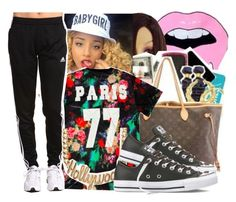 """Niya"" by baby-trilldolls ❤ liked on Polyvore featuring adidas and Forever 21"