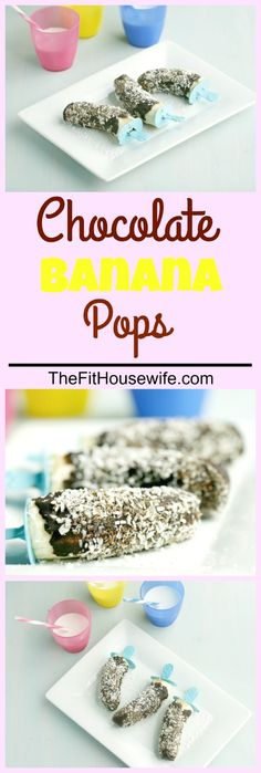 Chocolate Banana Pops. A healthy and cool treat for kids!