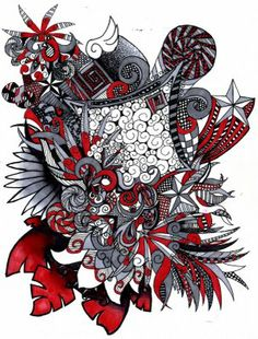 detailed+zentangle+art+drawings | Junie and J Art Journal