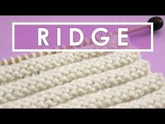 1X1 RIB Knit Stitch Pattern - YouTube