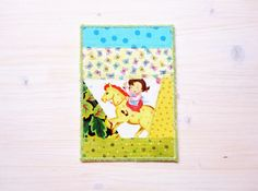 Greeting card birthday card patchwork quilted baby by poppyshome