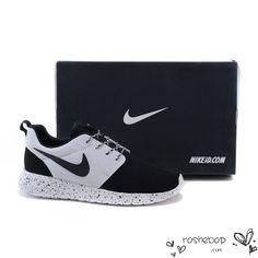 Womens Mens Nike Roshe Run Custom ID Black White Black