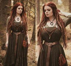 Viking Queen, Viking Woman, Larp, Viking Halloween Costume, Barbarian Costume, Vikings, Pagan Fashion, Renaissance, Norse Pagan