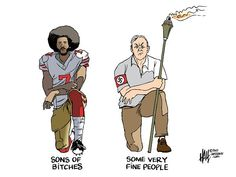 Cartoon by Ed Hall - Take a knee