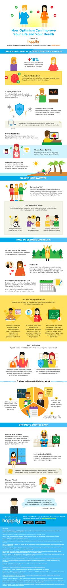 How to Be Happier: Tips & Tricks for Developing an Optimistic Outlook [Infographic], via @HubSpot