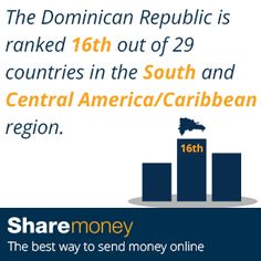 Send Money To The Dominican Republic Dr Dominicans Is Ranked Out Of 29 Countries In South And Central America Caribbean Region