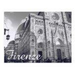 #white - Firenze Duomo Postcard