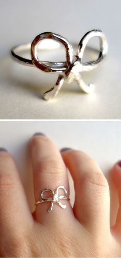 Sterling Silver Bow Ring ღ SO cUte!