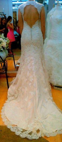 lace wedding dress ,love the detail lace