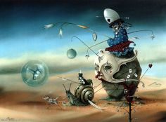 Hans Kanters was born in Amsterdam. He had no formal artistic training but began painting in 1967 at the age of twenty. He creates very detailed oil paintings. Funky Art, Pop Surrealism, Visionary Art, Gothic Art, Fantastic Art, Psychedelic Art, Horror Art, Surreal Art, Art History