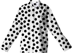#Black #Polka #Dots White #Pyjama #Top from Print All Over Me