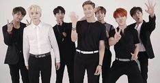 Let's see what we have here...a suprisingly normal acting V,swaggin suga, aegyoing jin, awkwardly waving and face crumping RapMon, cute Kookie, a retarded Power Ranger who lost his way ans accidently landed amongst bts, and finally JHope proudly showing the cameraman that his hand has got 5 fingers...yes these are the men ruling/ruining my life