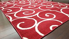 Radiance Art Pattern Collection Contemporary Modern White True Red Wool Area Rug Rugs 1051Red 5'2 x 7'3 Feraghan/Radiance Collection http://www.amazon.com/dp/B010WM3K5C/ref=cm_sw_r_pi_dp_da.Zvb0KDR72E