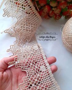 Irish Crochet Patterns, Crochet Lace Edging, Crochet Borders, Thread Crochet, Filet Crochet, Diy Crochet, Crochet Designs, Crochet Doilies, Crochet Curtains