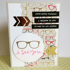 Love this card created by Magaly using the October 2015 card kit by Simon Says Stamp