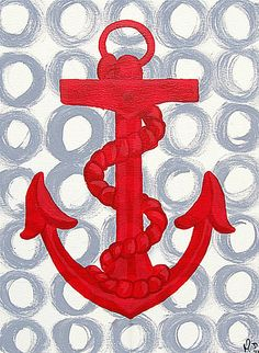 anchor art -- without the rope. i like the circles behind