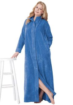 Industries Needs — Only Necessities Plus Size Chenille Robe ... Housecoat d984c26985bb