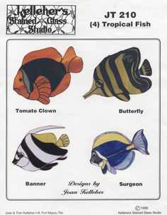 JT 210---Tropical Fish--Stained Glass Patterns