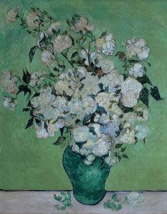 A Vase of Roses Painting  - A Vase of Roses Fine Art Print  Van Gogh