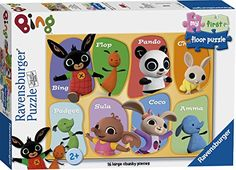 Ravensburger Bing Bunny My First Floor Puzzle 16 pieces Bing Bunny, 2000 Cartoons, Floor Puzzle, Toddler Age, Fun Illustration, Toys Shop, Early Learning, Preschool Activities, Childrens Books