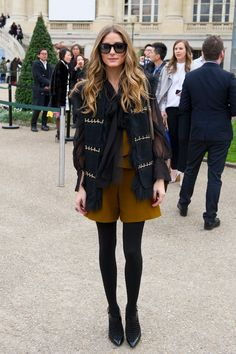 Sheer black with olive - Olivia Palermo
