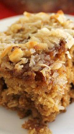 Applesauce Oatmeal Cake