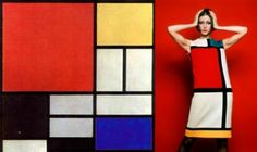 Moda e Arte - Yves Saint-Laurent - Mondrian 1965 Piet Mondrian, Mondrian Kunst, Mondrian Dress, Wayne Thiebaud, Sonia Delaunay, Georges Braque, Albrecht Durer, Lux Fashion, Fashion Art