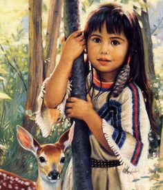 Native_American_Girl_standing_in_trees_with_deer.jpeg (774×906) Cheyenne Name, Native American Pictures, Native American History, Native American Children, Native American Artwork, Native American Wisdom, Native American Tribes, Native American Beauty, Cherokee History