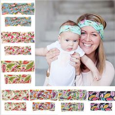 Now available on our store. 1 Set Mom and bab.... Check it out here!  http://voguebands.com/products/1-set-mom-and-baby-turban-headband-pair-set-top-knotted-headband-fashion-baby-and-mommy-cotton-headwear-hair-accessories?utm_campaign=social_autopilot&utm_source=pin&utm_medium=pin
