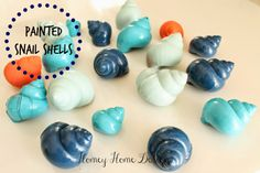 Painted Snail Shells.. Mmm..Not sure I would want to clean them though..lol