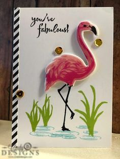 Fabulous Hero Arts Flamingo! | Cindy B Designs