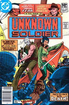 comic Unknown Soldier 255 F 1981 Dc Comic Books, Comic Book Covers, Comic Art, Joe Kubert, Unknown Soldier, War Comics, Dc Comics Characters, Bronze Age, Comic Character