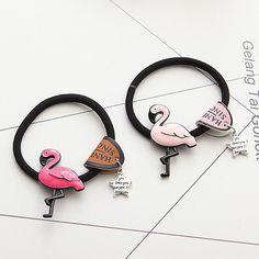 Cheap Hair Accessories, Buy Directly from China Suppliers:Newc Cartoon Flamingo Korean Fashion Women Hair Accessories Cute Elastic Hair Bands Girl Hairband Hair Rope Gum Rubber Band G