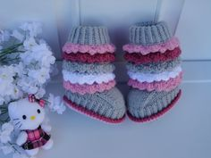 So want these!! Girl Baby Shoes Baby Girl Booties Newborn Girl Shoes Handmade Toddler Booties Crochet Baby Shoes Infant Booties Knitting Baby Shoes Girl. $24.90, via Etsy.