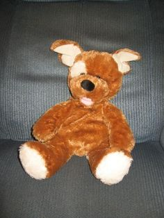 Build-A-Bear Sugar Puppy Brown Dog Lightly Stuffed Plush Toy Lovey 14""