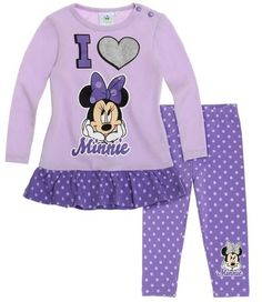 Disney Minnie T-Shirt avec leggings mauve Disney Baby Clothes, Cute Baby Clothes, Disney Outfits, Minnie Mouse Fancy Dress, Minnie Mouse Nursery, Baby Alive Food, Girl Sweat, Bookmarks Kids, Disney Merchandise