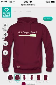 You got Dragon Boat ? glow in the dark paddle  -Dragon Boat written on the bottom side of the pocket in Traditional Chinese.   Www.spreadshirt.com #dragonboat #creative #paddlehard #paddle #dragon #boat