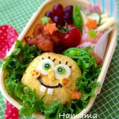 SpongeBob with omelet rice ball