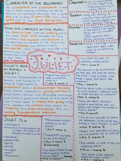 101 Romeo and Juliet Quotes Revision Tips, Revision Notes, Study Notes, Flashcards Revision, Romeo And Juliet Characters, Romeo And Juliet Quotes, English Literature Notes, English Writing, School Organization Notes