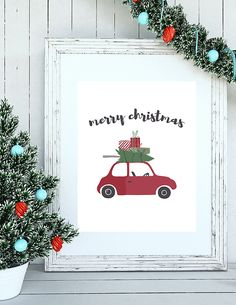 A free and easy way to add to your Christmas decor is to add prints in frames. This free Vintage Christmas Printable to adds to your Christmas decorating!