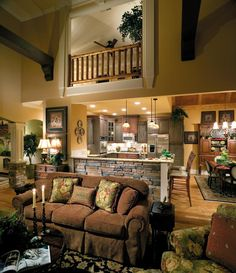 Last Trending Get all images home interior plan Viral d fba c cb f af c Family Room Decorating, Tuscan Decorating, Family Room Design, Decorating Ideas, Loft Spaces, Kitchen Pictures, Kitchen Ideas, Dream Rooms, Next At Home