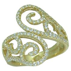 0.77 cttw. Bypass Style Diamond Ring https://www.goldinart.com/shop/diamond-rings/0-77-cttw-bypass-style-diamond-ring #DiamondRing