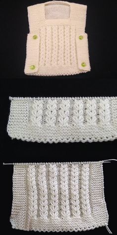 It's Never Been Easier to Make a Knitted Baby Vest - Kindermode Diy Crafts Knitting, Diy Crafts Crochet, Easy Knitting Patterns, Knitting Designs, Free Knitting, Knitting Projects, Baby Knitting, Knitted Baby, Baby Poncho