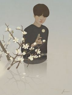 Bird in the thorn tree by Jiwoon Pak