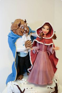 Cake Topper Marzia Caruso. The Beauty and the Beast